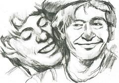 BLANCO Y NEGRO (GARGABLE) Tags: portrait blanco sketch retrato negro tele fofo lpiz bocetos payasos miliky gargable angelbeltrn