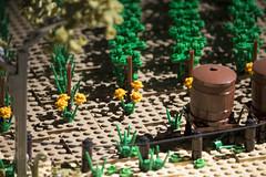 Victorian Trains Display (5) (Bricktease) Tags: bridge trees scale car station barn train model lego display australian victorian rail australia melbourne trains victoria silo replica minifig holden moc afol 2016 brickvention