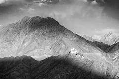 (gautam023) Tags: sky bw cloud mountains landscape palace peaks leh gautam ladakh pardake