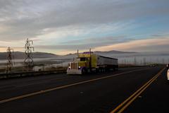Truck in the Fog (Dennis Goedegebuure) Tags: california fog truck landscape livermore pleasanton