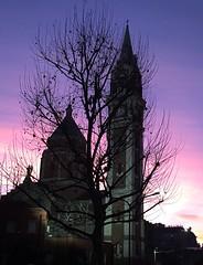 Alba a Milano (lefotodiannae) Tags: santa italia colore alba maria basilica milano chiesa di lourdes lefotodiannae