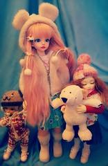 Wintery gals (Reikoka) Tags: sleeping baby doll dolls tiny bjd resin luts soom hybrid cory abjd rara msd balljointeddoll serin yosd littlefee popodoll littlefeebaby