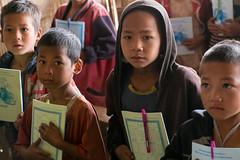 Schoolkids. (Laura Jacobsen) Tags: laos hilltribe akha phongsaly phongsali akhanoukouy