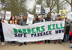 CND demonstration against Britain's weapons of mass destruction - London