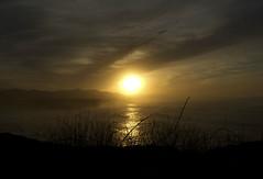 Cabo Vidio sunset (LuisGoiti) Tags: sunset sky orange sun water clouds landscape spain nikon cloudy asturias nikonista d3300