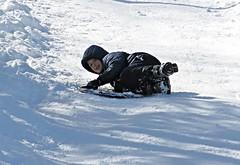 Slip Sliding Away ~ HCS! (karma (Karen)) Tags: snow maryland baltimore neighborhood sledding blizzard 4winter cliche hcs