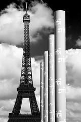 Eiffel Tower 2 - Paris, France 2012 (Yoann Fitoussi) Tags: city urban bw paris tower canon eos blackwhite europe cityscape eiffeltower eiffel nb toureiffel iledefrance ville noirblanc urbain 5dmarkii 5dmark2