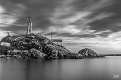 Brewing Storm (Daniel's Clicks) Tags: longexposure blackandwhite lighthouse landscapes vancity vancouve vancitybuzz