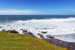 Cambria, CA-California-Central-Coast 2016-02-09 (randyandy101) Tags: ocean california blue sunset sea sky panorama sun seascape reflection green beach water rock outdoors photography coast seaside sand rocks whitewater surf waves outdoor shoreline bigsur rocky bluesky cliffs trail shore coastline bluffs cambria parkhill shimmering seafoam californiacentralcoast tidalpools cambriaca shamelpark bigsurhighway cambriapinesbythesea santarosaestuary santarosacreekestuary