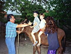 Adem & Deniz on uncle Recep's donkey, Polyanovo (ali eminov) Tags: boys animals children outdoors brothers donkeys bulgaria relatives deniz adem recep bulgaristan markomale polaynovo