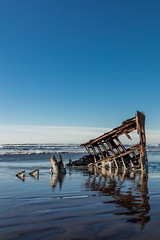 2016-01-10 - Peter Iredale Shipwreck-43 (www.bazpics.com) Tags: ocean sea usa beach water oregon america skeleton sand ship pacific or wave peter shipwreck frame hull wreck iredale