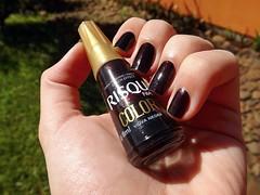 Esmaltao das Corujas: Maro - Preto com emoo :D (Rassa S. (:) Tags: black glitter nail polish preto vermelho nails unhas risqu esmalte naillacquer cremoso