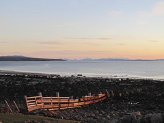 Walk on the Beach (Traigh Mhor) Tags: light sunset sea beach water islands evening march scotland spring highland minch gairloch 2016 rossshire bigsand