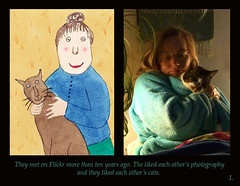 1  Women & Cats (Room With A View) Tags: birthday art pairs dyptich carolineme