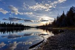 Nearing a Perfect Days End (Jim.J.H (27 BC)) Tags: lake ontario reflection fall evening lakesuperiorprovincialpark rabbitblanketlake