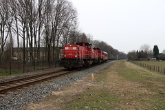 6413 + 6416 + 1611 - db cargo - heerstraat, reuver - 1316 (Benz Fahrer) Tags: db cargo 1600 6400 llt 1611 6413 6416 6500 oppe reuver ruiver maaslijn heerstraat zjwame