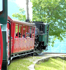 Brienz Rothorn Bahn, Switzerland - No. 6 built by SLM in 1933 follows the service train with a private hire service on the 9th July 2012 (trained_4_life) Tags: switzerland brienz brb berneseoberland brienzrothornbahn rackrailway