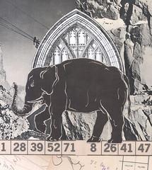 burdened beast (kurberry) Tags: collage cutpaste vintageephemera losdiascontados analoguecollage