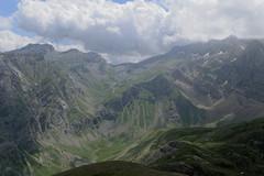 Widok z Montana Verde na przełęcz Collada Tendenera