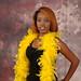 DSC_0166 Somali Lady Yellow Feather Boa Shoreditch Studio London
