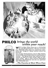 1937 Philco the world within your reach (Al Q) Tags: world radio receiver shortwave 1937 philco
