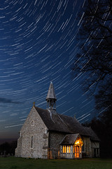 Crowfield Church Star Trails (Craig Hollis) Tags: blue church night stars star trails astro hour crowfield