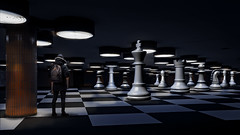 your turn () Tags: light photomanipulation photoshop dark hongkong chess chessboard manipulate