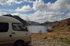 Morning view. (BurnThePlans) Tags: camping scotland highlands glen loch van camper arkaig wildcamping vanlife