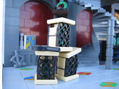 Science or NonSi-ense? (gid617) Tags: colors wall stairs experiments floor lego mosaic science round curved discovery vials vig minifigures