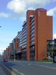 Manchester Business School IV (Twizzer88) Tags: uk greatbritain england brick architecture manchester university unitedkingdom britain modernism lancashire uni modernist universityofmanchester greatermanchester universitycampus