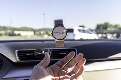 Floating Skagen Watch (CamG_Photography) Tags: camera blue jared white car vw photoshop silver volkswagen denmark daylight skies shadows hand watch floating jewelry ring chain cc tricks catching link inside trick tossing skagen throwing blueskys lightroom