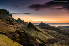 Early One Morning on the Quiraing (Damon Finlay) Tags: skye beauty sunrise dawn islands scotland highlands nikon colours isleofskye natural scottish d750 naturalbeauty tamron isle f28 quiraing scottishhighlands 2470 highlandsandislands tamron2470f28 nikond750