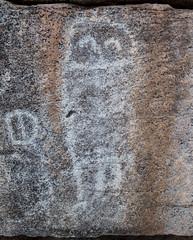 Perhaps an Owl? (alitay) Tags: white owl petroglyph hohokam rockart orovalley honeybeecanyon