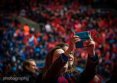 Red and Blue 24/30 April Photo A Day (Alex Chilli) Tags: colour cup football crystal stadium crowd palace april fc fa wembley semifinal selfie 2016