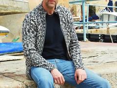 cardigan uomo melange (stranelane1) Tags: man lana wool tricot knitting knit uomo knitted melange cardigan maglia trecce