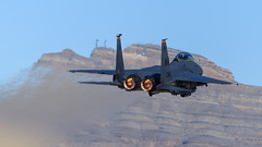 McDonnell Douglas F-15E Strike Eagle of 17th Weapons Squadron from Nellis AFB (Norman Graf) Tags: distortion plane airplane fighter eagle aircraft wa usaf f15 mcdonnelldouglas unitedstatesairforce afterburner nellisafb f15e strikeeagle lsv militaryexercise klsv 17wps 920366 usafws 17thweaponssquadron usafweaponsschool heatturbulence redflag161