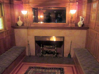 Fireplace in Inglenook of McKim, Mead & White Stair Hall