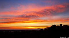 Tramonto, 23/03/2016 (Paolo Gabriele Maiero) Tags: blue sunset red sky panorama orange tower castle primavera beauty silhouette clouds skyscape landscape tramonto nuvole colours torre ngc natura cielo colori castello sfumature orizzontale