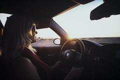 5 (mgilbuena) Tags: road woman sunlight film car sunshine sunglasses analog highway driving slidefilm bmw nikonfm2 selfdeveloped fujiprovia100f nikond750asfilmscanner