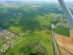 The Old WW2 Newmarket RAF station now a racecourse with the A14 road running westbound. (David Russell UK) Tags: world uk two horses station race suffolk war course ww2 bomber newmarket base command raf airfield royalairforce a14