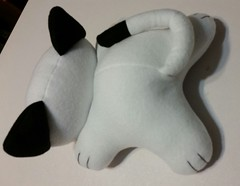 kitty plush back (Pywackyt) Tags: stuffedtoy cat toy kitty plush stuffedanimal plushie softtoy