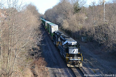 NS 3491 EMD SD40-2 (K82) (Trucks, Buses, & Trains by granitefan713) Tags: train ns locomotive local freighttrain norfolksouthern manifest emd intermodal sd402 doublestacks emdsd402 mixedfreight sunburyline nssunburyline yardturn