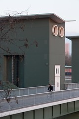 Big Owl is watching you (Elo_M.) Tags: sunset basel owl barrage birsfelden absurde