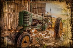 Model B (Back Road Photography (Kevin W. Jerrell)) Tags: old home farming explore textures nostalgic antiques tractors johndeere farmequipment daysgoneby countryscenes nikond60 ruralphotography backroadphotography