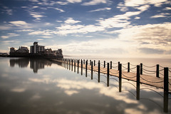 Perfect day (Julian Pett) Tags: sea sky reflection clouds mare super infinite weston flickrfriday