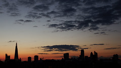 Lon-Down, Sun-Down (Lord Eglinton) Tags: city sunset england urban orange london love dusk tomorrow shard sorrow