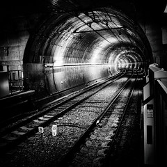 tunnel (s_inagaki) Tags: blackandwhite bw monochrome japan tokyo tunnel s bnw