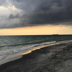 Im gonna get wet anyway... #rain #zambales #trip #ocean #beach #zambawoodresort #zambawood (Daniel Y. Go) Tags: square squareformat iphoneography instagramapp uploaded:by=instagram