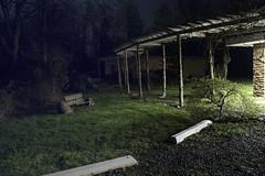 Night Seating (al-ICE g) Tags: night bench nj posts hillsborough