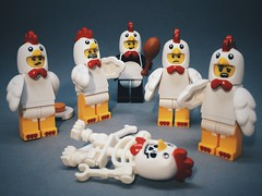 Who dunnit? (brick.hello) Tags: guy chicken panda lego suit murder minifig minifigure